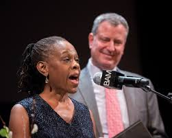 First Lady Chirlane McCray and husband Mayor Bill de Blasio