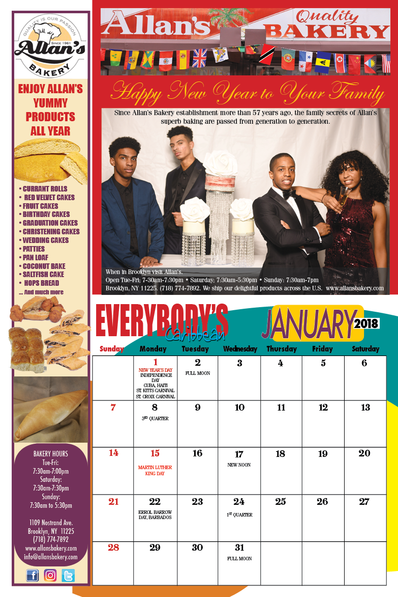 Calendar Year Hurricane Deductible : Global caribbean calendar everybody s